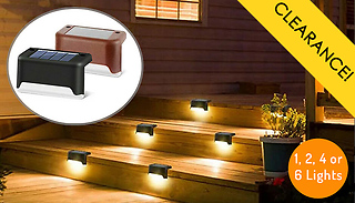 1, 2, 4 or 6-Pack of Solar Decking Lights - 2 Colours