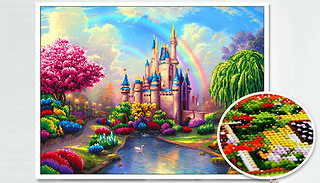5D Diamond Painting Kit With Tools - 2 Designs & 6 Sizes