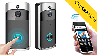 3-in-1 Smartphone-Connected Video Doorbell With Intercom - 2 Colours & ...
