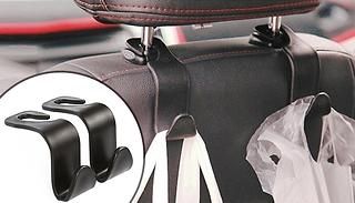 Car Seat-Back Hooks - 1, 2 or 4-Pack