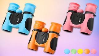 Kids Zoom Mini Binoculars with 8x Magnification - 5 Colours