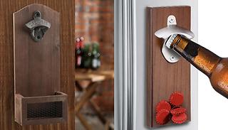 Wall Mounted or Magnetic Bottle Opener