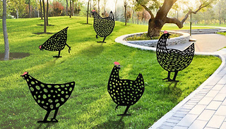 1 or 5-Pack of Cute Garden Chicken Ornaments