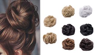 Messy Bun Hair Scrunchie - 9 Colours