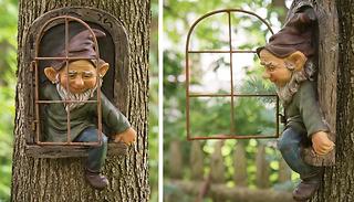 Garden Gnome Tree Hugger Decoration - Man or Woman