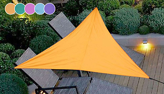 3m or 4m Waterproof UV-Protecting Sail Sun Shade - 5 Colours