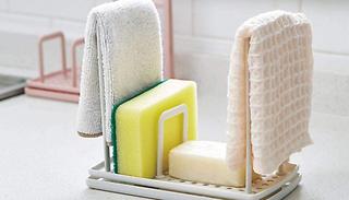 2-Pack Kitchen Sponge and Cloth Racks - 3 Colours