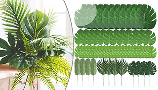 60-Piece Artificial Palm Leaves