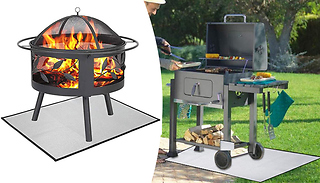 Protective Garden Fire Pit & BBQ Grill Mat - 6 Sizes