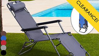 Outsunny Foldable Reclining Garden Sun Lounger - 5 Colours