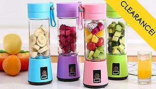 Portable Smoothie Blender Bottle - 4 Colours