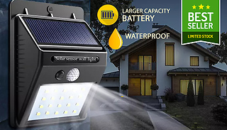Motion-Activated Solar Security Lights - Pack of 1, 2, 3 or 4