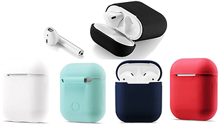 Apple AirPod Compatible Protective Silicone Charging Box Cover - 4 Col ...