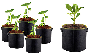 Heavy Duty Nonwoven Fabric Grow Bags - 3, 5, 7 or 10 Gallons