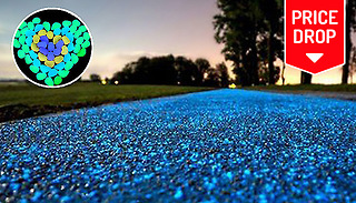 Hundreds of Solar Powered Glow-In-The-Dark Garden Pebbles - 3 Colours