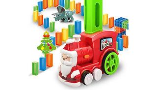 90-Piece Domino Train Toy Set With Light & Sound