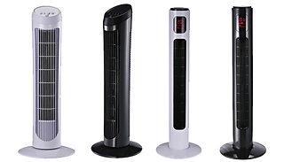 HOMCOM Oscillating Tower Fans - 4 Options