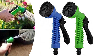 Expandable Deluxe Flexible Hose With Spray Nozzle - Up To 150ft Long!