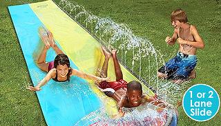 1 or 2-Lane Kids Outdoor Water Spraying Slip & Slide