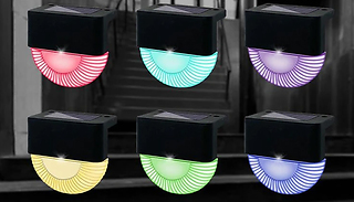 1, 4, or 8 Solar Powered Wall and Step LED Lights - 2 Colours