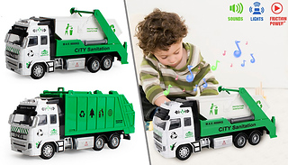 Friction Powered Garbage Truck Toy With Lights & Sounds - 2 Styles