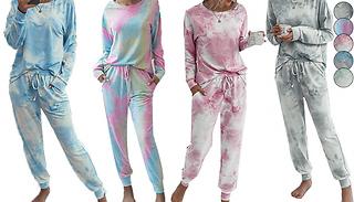 Women's Tie Dye 2-Piece Loungewear Set - 5 Colours & Sizes