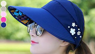Folding Visor-Style Sun Hat - 6 Colours
