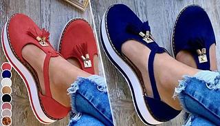 Thick-Sole Sandal Shoes - 6 Sizes & 8 Colours