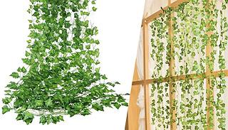 12-Pack of Artificial Ivy Vine Hanging Garlands