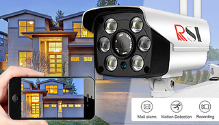 Outdoor IP Security Camera With Night Vision and Optional 30 Day Recor ...