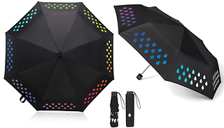 Compact Folding Colour-Changing Umbrella