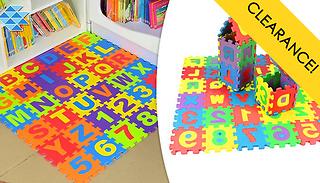 36-Piece Foam Alphabet Mat