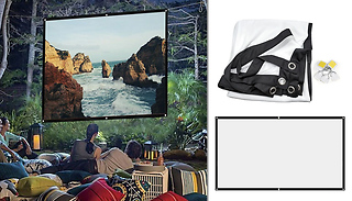 Portable Home Cinema Projector Screen - 3 Sizes