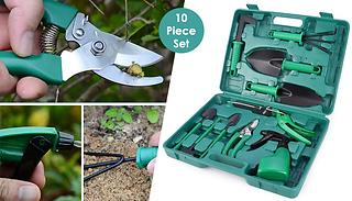 10-Piece Stainless Steel Garden Tool Kit