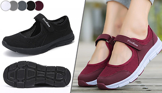 Velcro-Strap Breathable Trainers - 5 Colours & 5 Sizes
