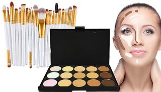 15-Shade Contouring Palette + 20-Piece Make-Up Brush Set
