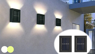 2-Pack of LED Double Sided Solar Wall-Mounted Lights - 2 Colours