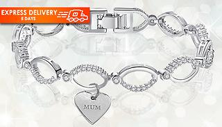 Swarovski Crystal 'Mum' Bracelet