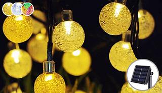 30 LED Solar String Bubble Lights - 3 Colours