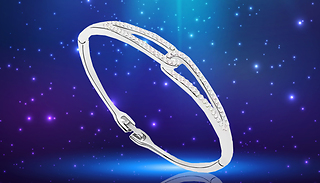 Infinity Bangle With Swarovski Elements - 1 or 2