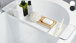 Extendable Non-Slip Draining Bath Tray - 2 Colours