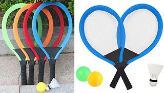 5-Piece Outdoor Games Racket & Ball Set - 4 Colours