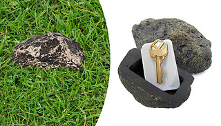 Hide-a-Spare-Key Fake Rock - 1 or 2-Pack