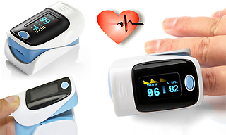 Fingertip Oxygen and Pulse Rate Monitor Oximeter - 4 Colours