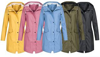 Hooded Waterproof Raincoat - 5 Colours & 5 Sizes
