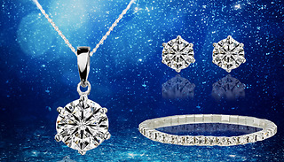 Solitaire Tri Set With Crystals From Swarovski