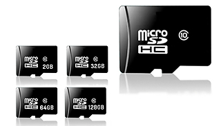 Micro SD Memory Card with Adaptor - 2, 32, 64 or 128GB