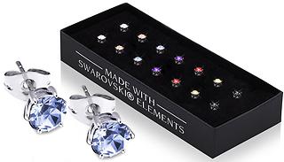 Set of 7 Swarovski Crystal Earrings
