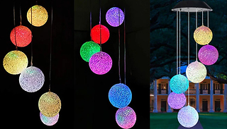 Solar LED Colour Changing Garden Wind Chime Lights