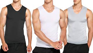 Men's Fitness Tank Vest - 3 Colours & 5 Sizes